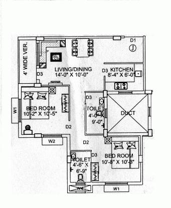 924 sqft, 2 bhk Apartment in Starlite Sunny Crest Garia, Kolkata at Rs. 40.6560 Lacs