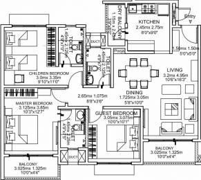 1489 sqft, 3 bhk Apartment in Godrej Palm Grove Mevalurkuppam, Chennai at Rs. 61.0000 Lacs