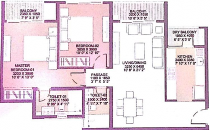 1099 sqft, 2 bhk Apartment in Godrej City Woods Panvel Ph 1 Panvel, Mumbai at Rs. 81.0000 Lacs