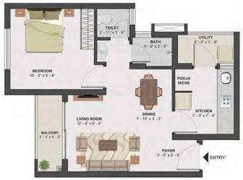 576 sqft, 1 bhk Apartment in TATA Santorini Mevalurkuppam, Chennai at Rs. 23.6000 Lacs
