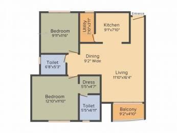 1133 sqft, 2 bhk Apartment in Kolte Patil Mirabilis Horamavu, Bangalore at Rs. 56.8766 Lacs