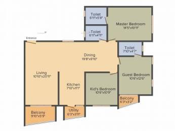 1600 sqft, 3 bhk Apartment in Kolte Patil Mirabilis Horamavu, Bangalore at Rs. 80.3200 Lacs