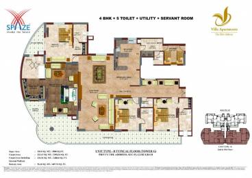 3980 sqft, 4 bhk Apartment in Builder SPAZE VILLA APARTMENTS The Elite Address Sector 93, Gurgaon at Rs. 1.7500 Cr