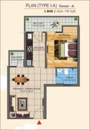 750 sqft, 1 bhk Apartment in K World Estates Builders KW Srishti Raj Nagar Extension, Ghaziabad at Rs. 7500