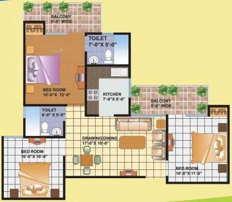 1100 sqft, 3 bhk Apartment in KDPMGI Group KDP MGI Gharaunda Raj Nagar Extension, Ghaziabad at Rs. 26.0000 Lacs