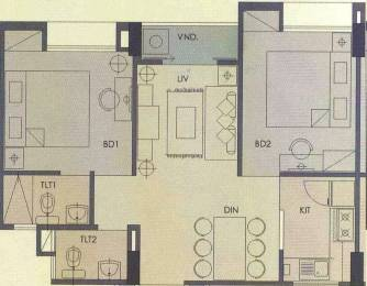 770 sqft, 2 bhk Apartment in Hiland Woods New Town, Kolkata at Rs. 34.0000 Lacs