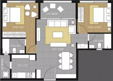 966 sqft, 2 bhk Apartment in Amanora Future Towers Hadapsar, Pune at Rs. 80.0000 Lacs