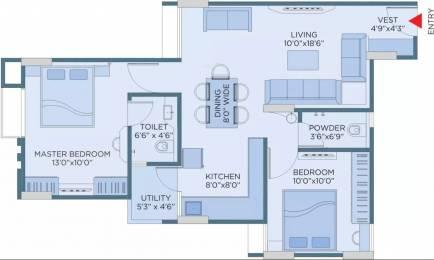 973 sqft, 2 bhk Apartment in Yash Pinnacle Paldi, Ahmedabad at Rs. 20000