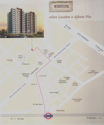 695 sqft, 1 bhk Apartment in PNK PNK Winstone Mira Road, Mumbai at Rs. 52.1250 Lacs