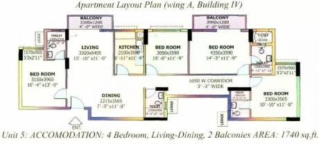 1740 sqft, 4 bhk Apartment in DLF Carlton Estate Sector 53, Gurgaon at Rs. 47000