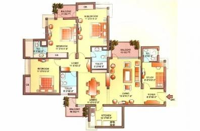2061 sqft, 3 bhk Apartment in Orchid Petals Sector 49, Gurgaon at Rs. 40000