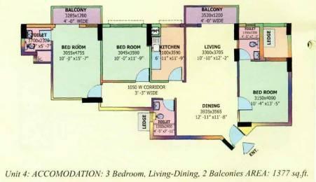 1377 sqft, 3 bhk Apartment in DLF Carlton Estate Sector 53, Gurgaon at Rs. 1.5000 Cr