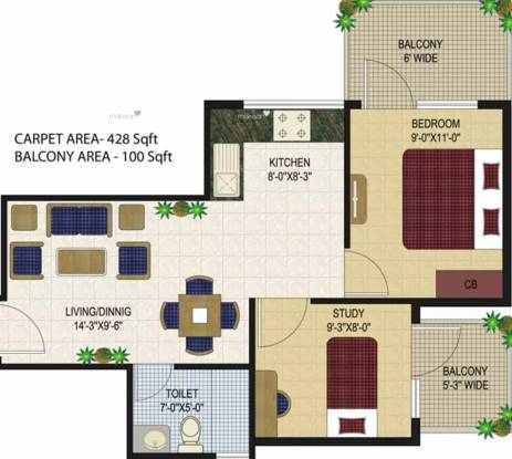 556 sqft, 1 bhk Apartment in Agrasain Aagman Sector 70, Faridabad at Rs. 17.4868 Lacs