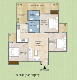745 sqft, 3 bhk Apartment in Builder Samridhi sector 89 faridabad Sector 89, Faridabad at Rs. 26.3000 Lacs