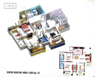 1355 sqft, 3 bhk Apartment in Builder Project Amlihdih, Raipur at Rs. 10000