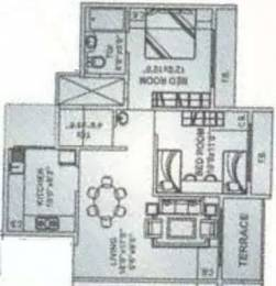 1050 sqft, 2 bhk Apartment in Simran Sapphire Kharghar, Mumbai at Rs. 15000