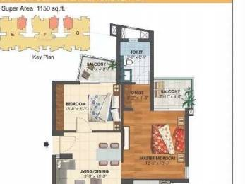1150 sqft, 2 bhk Apartment in Assotech The Cosmopolis Arya Village, Bhubaneswar at Rs. 67.0000 Lacs