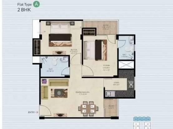 886 sqft, 2 bhk Apartment in Anukriti Garden 41 Bhankrota, Jaipur at Rs. 26.0000 Lacs