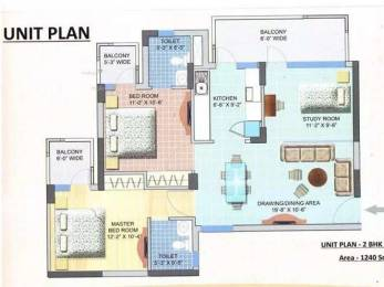 1240 sqft, 2 bhk Apartment in RAS Palm Residency Sector 76, Faridabad at Rs. 34.4600 Lacs