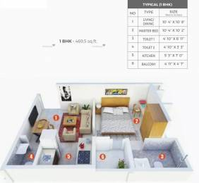 470 sqft, 1 bhk Apartment in Shriram Grand City Uttarpara Kotrung, Kolkata at Rs. 15.0000 Lacs