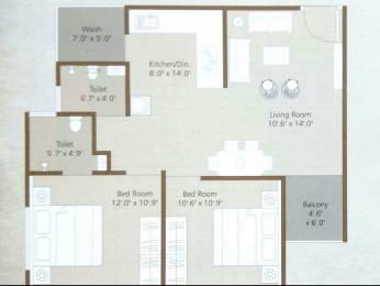 1051 sqft, 2 bhk Apartment in Builder Project Sevasi, Vadodara at Rs. 21.0000 Lacs