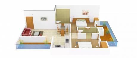 1000 sqft, 2 bhk Apartment in Supertech Livingston Crossing Republik, Ghaziabad at Rs. 9000