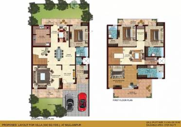 3725 sqft, 4 bhk Villa in Omaxe Mulberry Villas Mullanpur, Mohali at Rs. 4.0000 Cr
