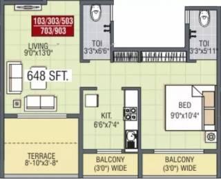 648 sqft, 1 bhk Apartment in JP Harmony Ambernath East, Mumbai at Rs. 22.0000 Lacs