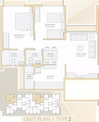 1295 sqft, 2 bhk Apartment in Vishwanath Maher Homes Shela, Ahmedabad at Rs. 50.0000 Lacs