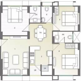 1625 sqft, 3 bhk Apartment in Sapphire Swapneel Elysium Bopal, Ahmedabad at Rs. 18500