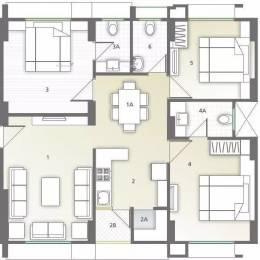 1625 sqft, 3 bhk Apartment in Sapphire Swapneel Elysium Bopal, Ahmedabad at Rs. 18500