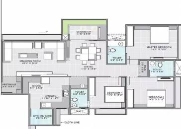 2115 sqft, 3 bhk Apartment in Gala Aria Bopal, Ahmedabad at Rs. 21500
