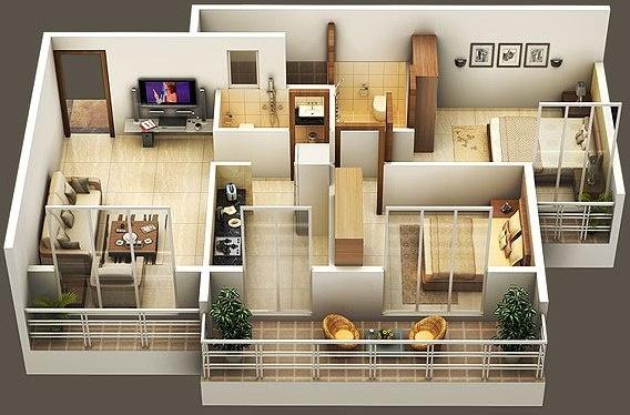 1050 sqft, 2 bhk Apartment in Amrut Sai Amrut Paradise Karanjade, Mumbai at Rs. 57.7500 Lacs