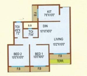 1050 sqft, 2 bhk Apartment in Mhalsa Residency Kamothe, Mumbai at Rs. 89.0000 Lacs