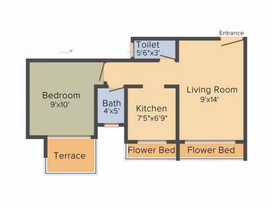 670 sqft, 1 bhk Apartment in Aaron Kanupriya Kamothe, Mumbai at Rs. 47.0000 Lacs