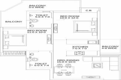 1000 sqft, 2 bhk Apartment in Gaursons Gaur Yamuna City Sector 19 Yamuna Expressway, Noida at Rs. 30.0000 Lacs