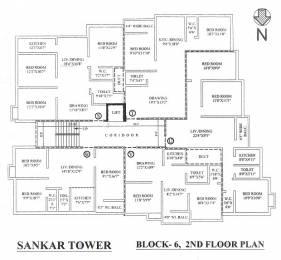 550 sqft, 1 bhk Apartment in Dewki Shankar Tower Dum Dum, Kolkata at Rs. 18.4250 Lacs