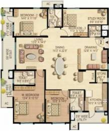 2985 sqft, 4 bhk Apartment in Raheja Quiescent Heights Madhapur, Hyderabad at Rs. 55000