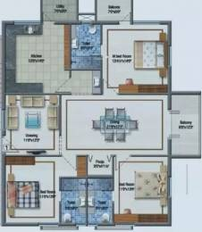 1800 sqft, 3 bhk Apartment in Aditya Imperial Heights Kukatpally, Hyderabad at Rs. 94.0000 Lacs