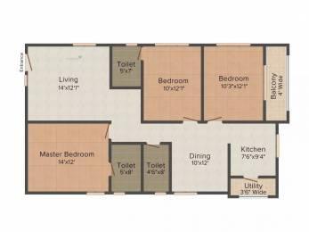 1461 sqft, 3 bhk Apartment in Jain Auroville Hitech City, Hyderabad at Rs. 35000