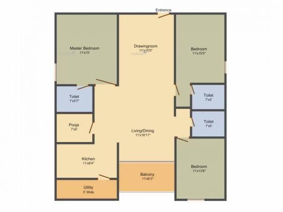 2100 sqft, 3 bhk Apartment in My Home Navadweepa Madhapur, Hyderabad at Rs. 1.4000 Cr