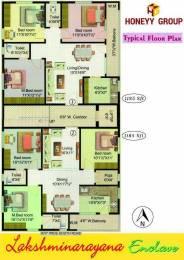 1185 sqft, 3 bhk Apartment in Builder Lakshminarayana Enclave Endada Endada, Visakhapatnam at Rs. 40.2900 Lacs