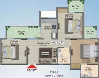 1225 sqft, 3 bhk Apartment in Migsun Wynn ETA 2, Greater Noida at Rs. 23.0000 Lacs