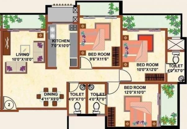 1518 sqft, 3 bhk Apartment in Shamiks Elanza Santacruz East, Mumbai at Rs. 3.0000 Cr