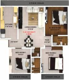 1378 sqft, 3 bhk Apartment in Modispaces Oyster Malad West, Mumbai at Rs. 45000