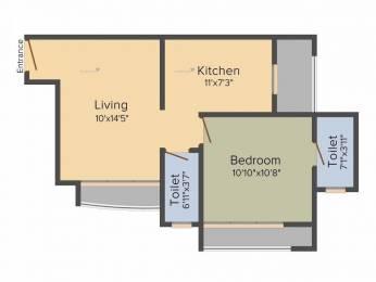 685 sqft, 1 bhk Apartment in Gemstar Sonata Malad West, Mumbai at Rs. 88.0000 Lacs