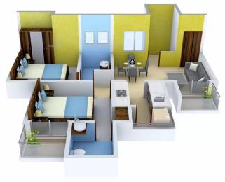 982 sqft, 2 bhk Apartment in Stellar One Sector 1 Noida Extension, Greater Noida at Rs. 36.6389 Lacs