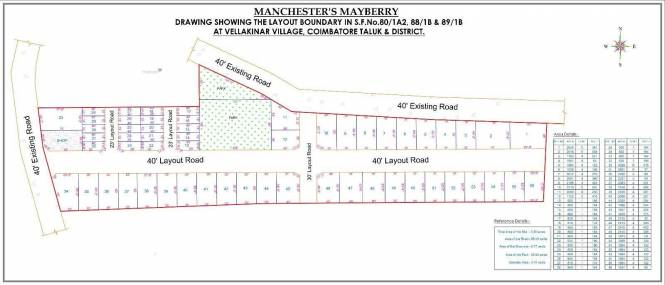 2400 sqft, Plot in Builder Manchesters mayberry Thudiyalur, Coimbatore at Rs. 46.2000 Lacs
