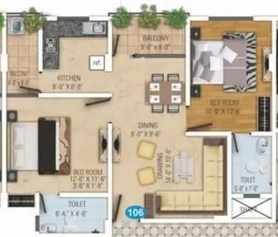 1073 sqft, 2 bhk Apartment in Kotecha Royal Avenue Dholai, Jaipur at Rs. 35.4090 Lacs