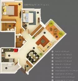 1260 sqft, 2 bhk Apartment in Kasturi Eon Homes Hinjewadi, Pune at Rs. 20000
